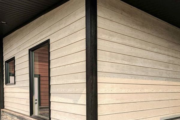 White Granite RusticSeries fiber cement siding. Beautiful Contemporary, Single Family Home.
