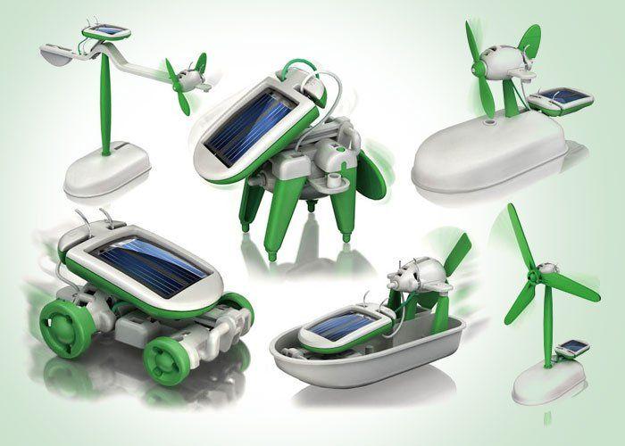 Szórakoztató és hasznos játék nem csak gyerekeknek: napelemmel működő robot készlet, 6 különböző modellel