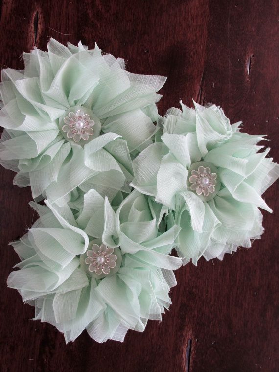 151 best fabric flowers images on pinterest bridal bouquets bride mint shabby chic fabric flowers mint green fabric flower mint fabric flower wedding flowers mint wedding mightylinksfo Images