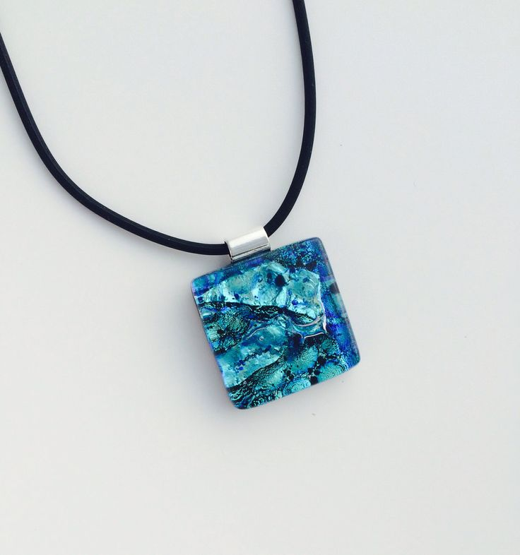 New Dichroic Glass necklaces