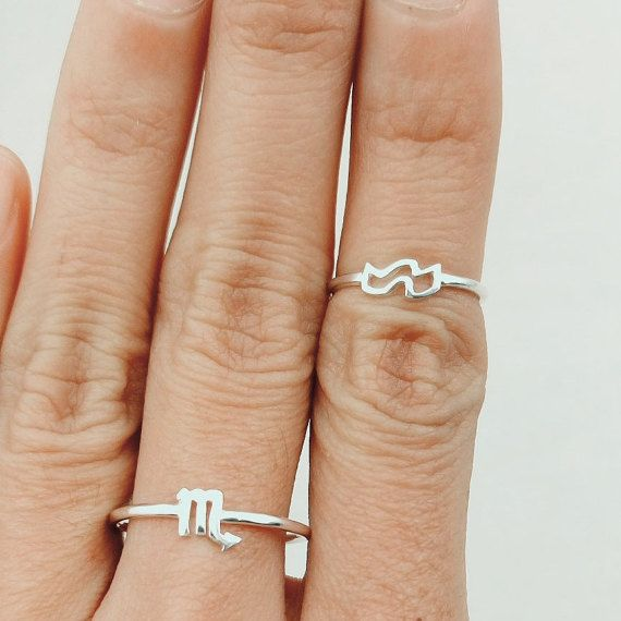 Horoskop Zodiac Ring, Ring Rotgold MIDI-Ring, Knuckle Ring Weihnachtsgeschenk