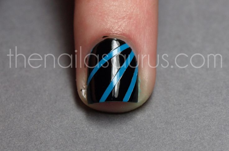 Hoe to nail tape. The Nailasaurus: Laser (Disco, Moonbeam?) Nail Art Tutorial