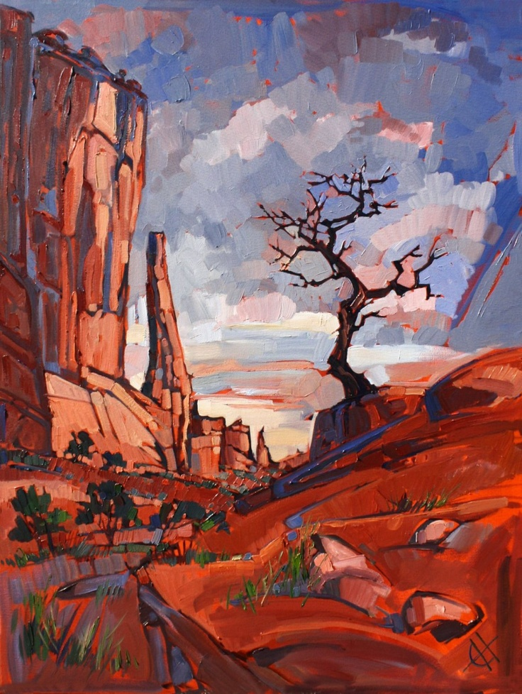 Gnarled at Arches - Original oil painting by Erin Hanson