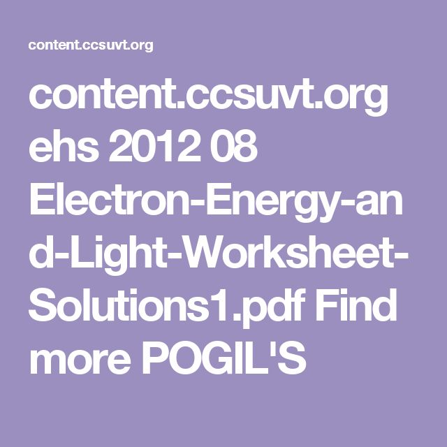 46 best college science teaching images on pinterest high schools contentsuvt ehs 2012 08 electron energy and light fandeluxe Choice Image