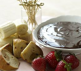 Mocha Fondue ~ this looks delicious! Of course, you can use anything other than the bread for dipping.
