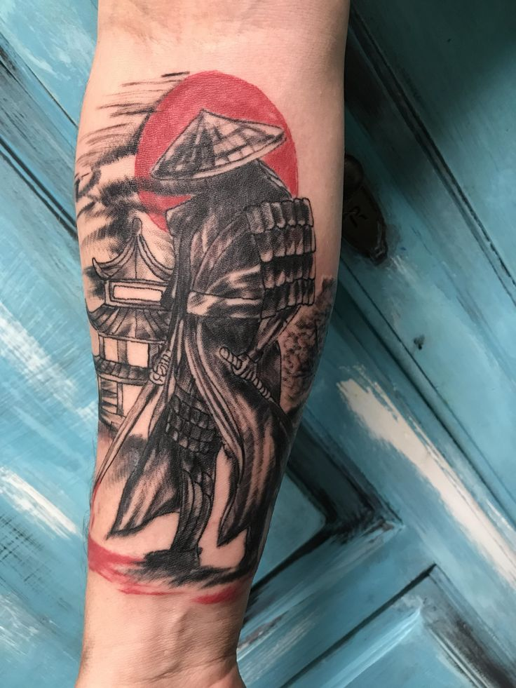 Samurai by Worm at Brick House tattoos in Jacksonville AR Japanese tattoo sleeve