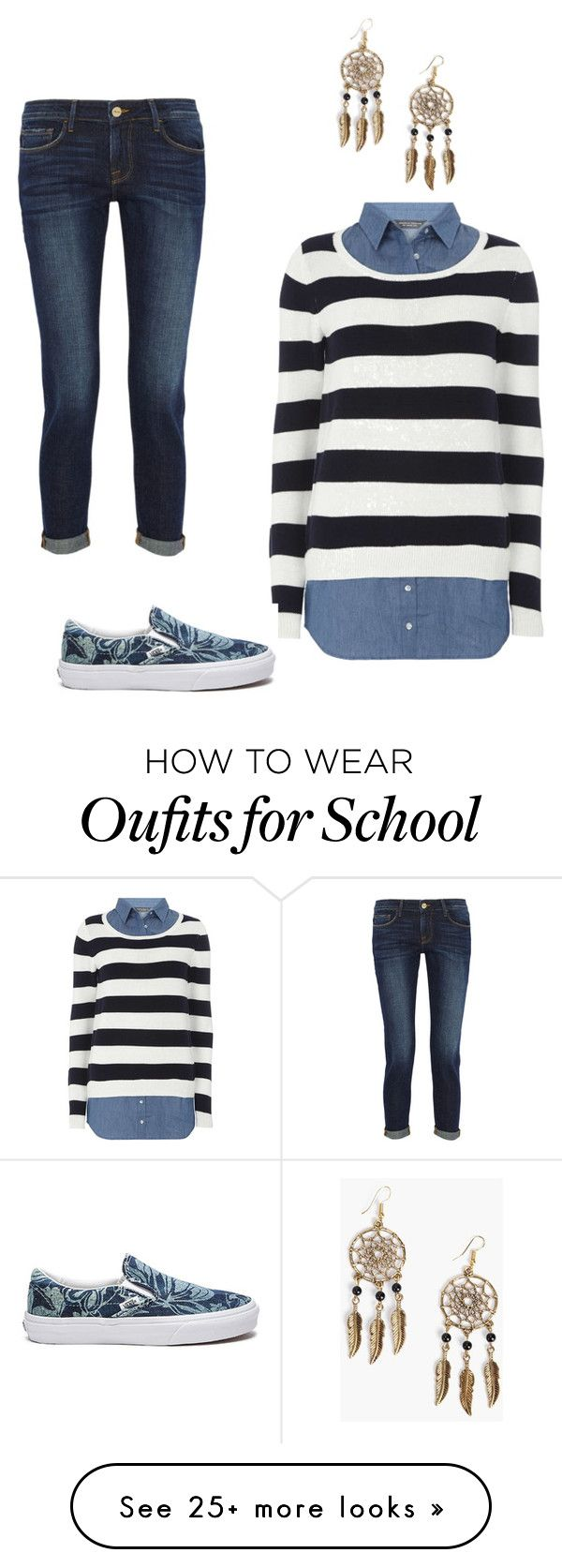 """Everyday High Schooler wear"" by lucyudo on Polyvore featuring Dorothy Perkins, Frame Denim, Vans and Boohoo"