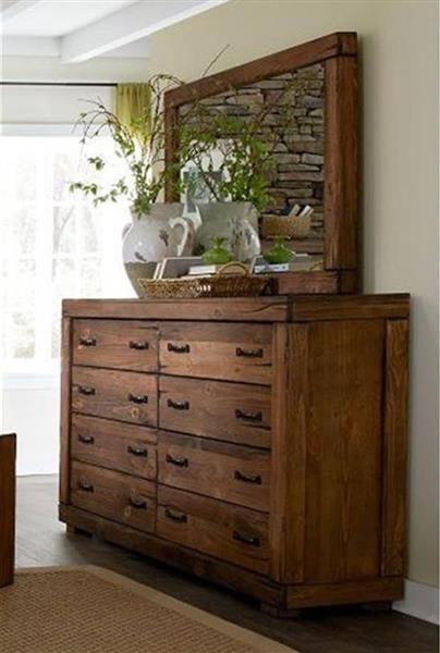 Maverick Rustic Driftwood Wood Dresser