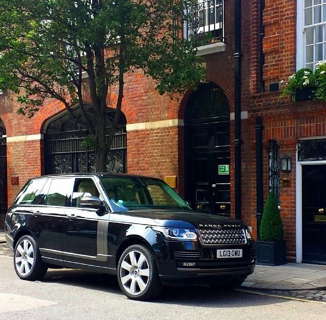 My range rover vogue, black exterior, white leather interior. Pictured when I took a trip to London