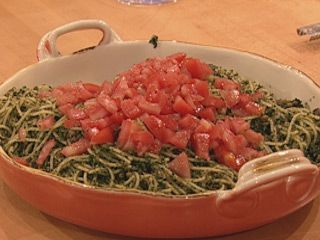 Parsley Pesto-Breadcrumb Spaghetti  Recipe - sub wheat noodles for zucchini noodles!