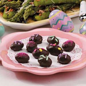 Candy Easter Eggs Recipe -I got this delightful a old fashioned recipe from my mother-in-law. She produced many variations from this basic recipe, combining different flavored extracts with specific coloring.                          —Theresa Stewart                                                           Melfort, Saskatchewan