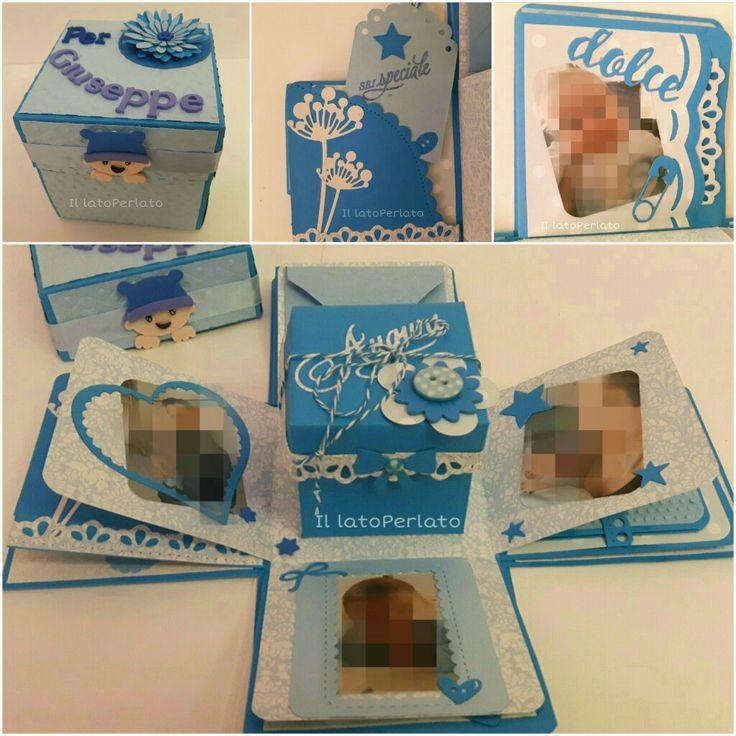 Il lato Perlato: Explosion box per la festa del papà con scatolina porta regalo al centro