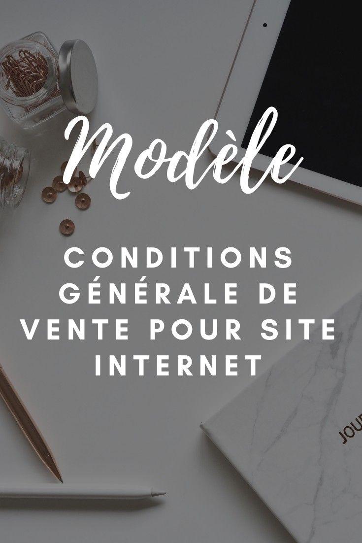 Modele De Conditions Generales De Vente Pour Votre Site Internet Conditions Generales De Vente Activites Numeriques Modele De Contrat