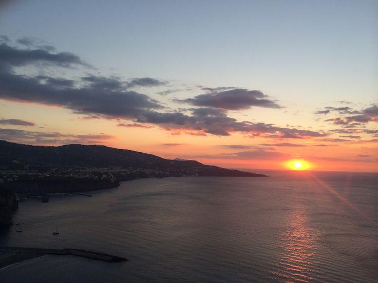 Sunset in Sorrento