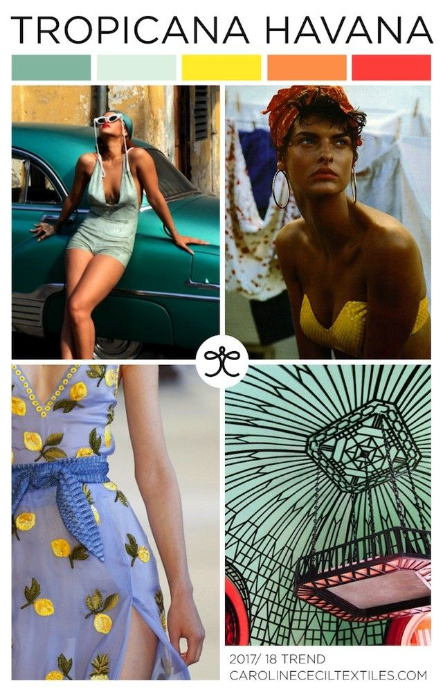 #CarolineCecil on #WeConnectFashion. SS18 emerging trend: Tropicana Havana
