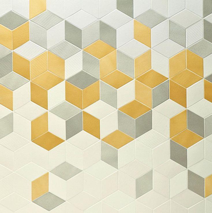 Tex by Mutina + Raw Edges Yellow, Cream, White, Grey