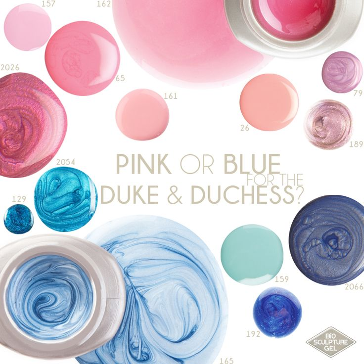 Bio Sculpture Gel is celebrating the pregnancy news of the Duke and Duchess - William and Kate, with the royal family by flaunting some of our princely blues and queenlike pinks.