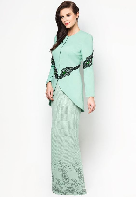 Buy Jovian Mandagie for Zalora Chantilly Chantae Baju Kurung ...
