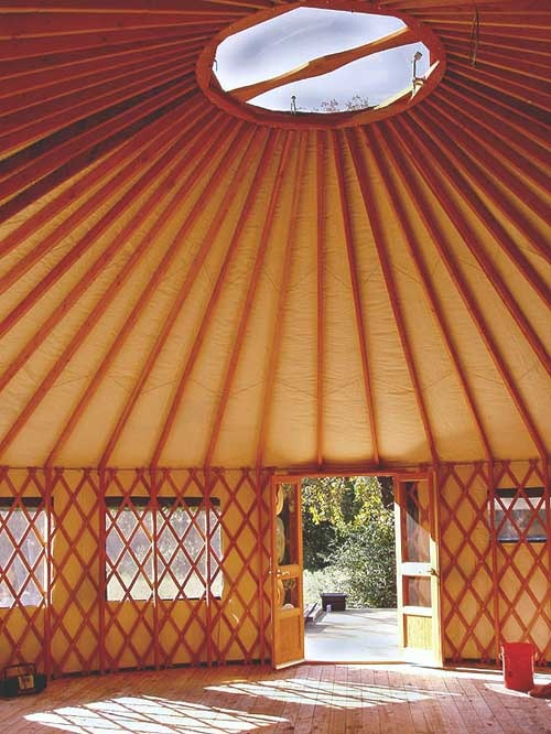 73 best images about yurts on pinterest mandalas yurts for Yurt interior designs