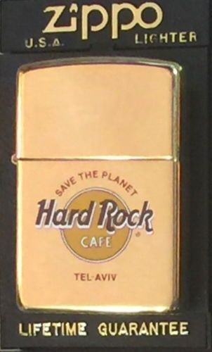 Tel aviv hard rock cafe brass zippo