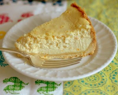 Orange Ricotta Cheesecake with Orange Curd -