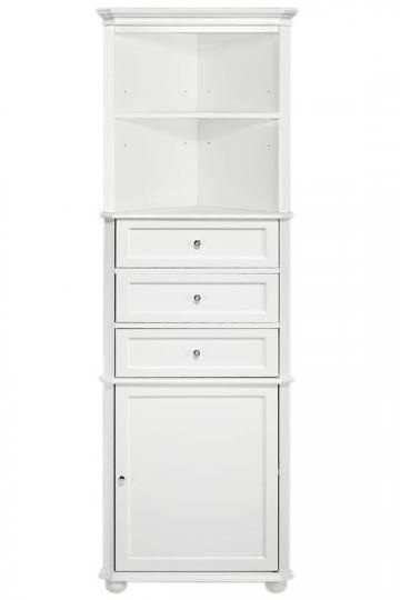 Hampton Bay Corner Linen Cabinet I  Add Stylish Storage with This Linen Cabinet  Item # 47728  $189