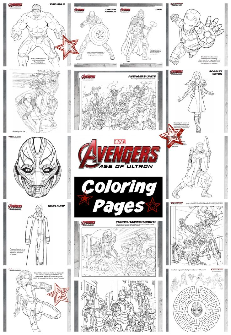 Avengers Age of Ultron Coloring
