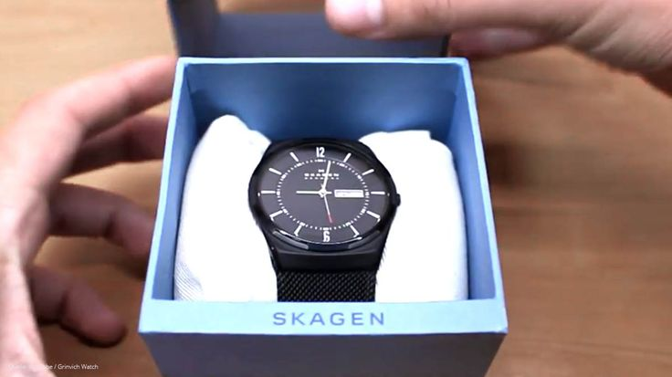 #Skagen #Titanium SKW6006 schwarze Herren-Titanuhr mit Mesh-Armband