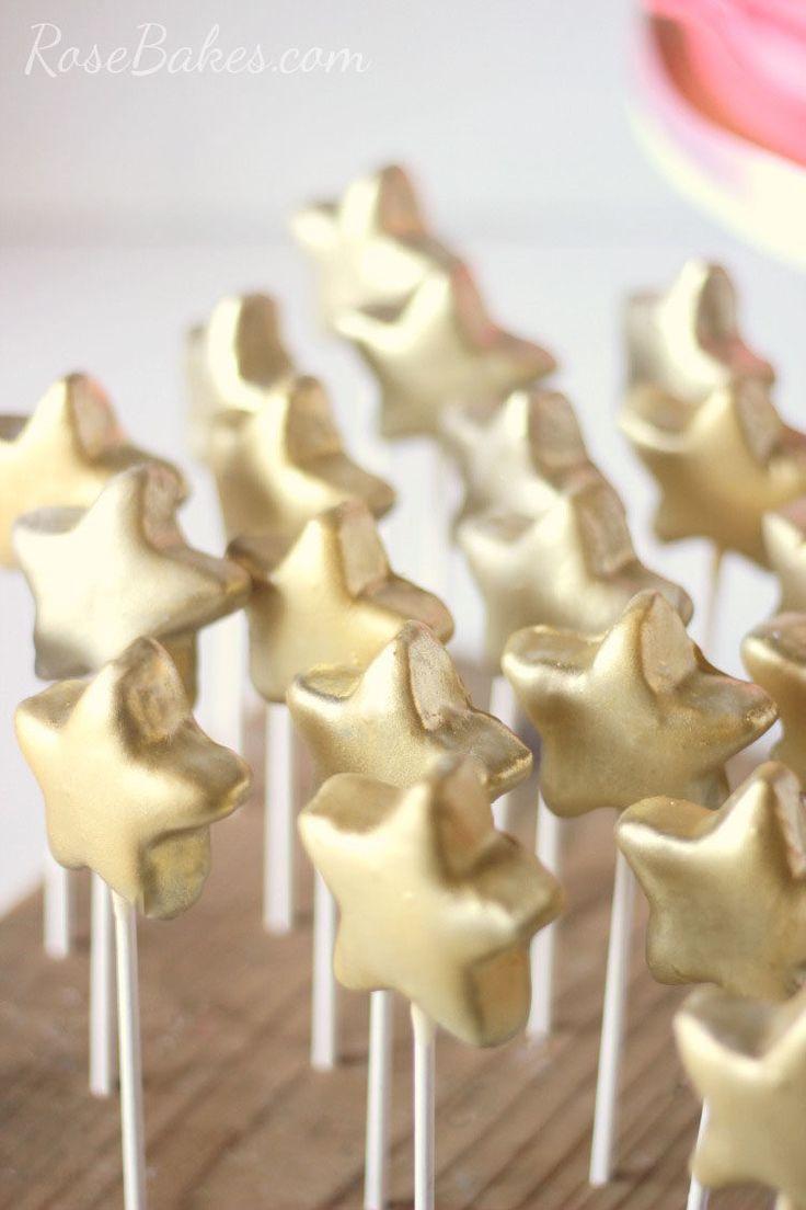 Gold Stars Cake Pops