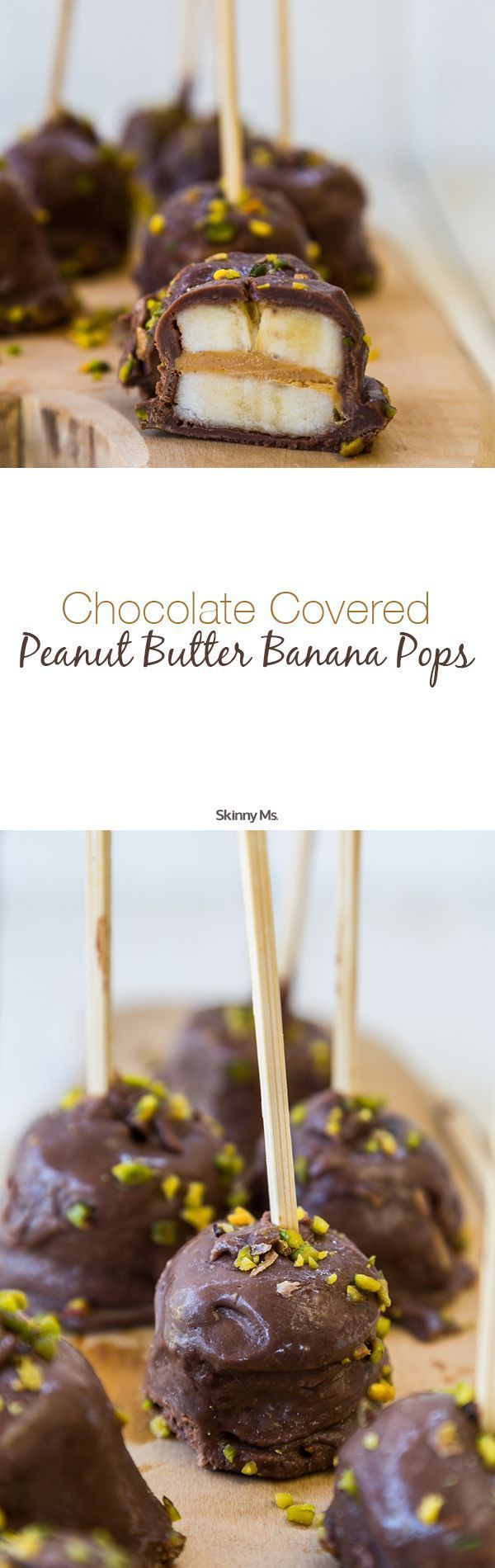 Chocolate Covered Peanut Butter Banana Pops - a must-have no bake recipe for summer! #chocolatecoveredbananapops #chocolate #banana