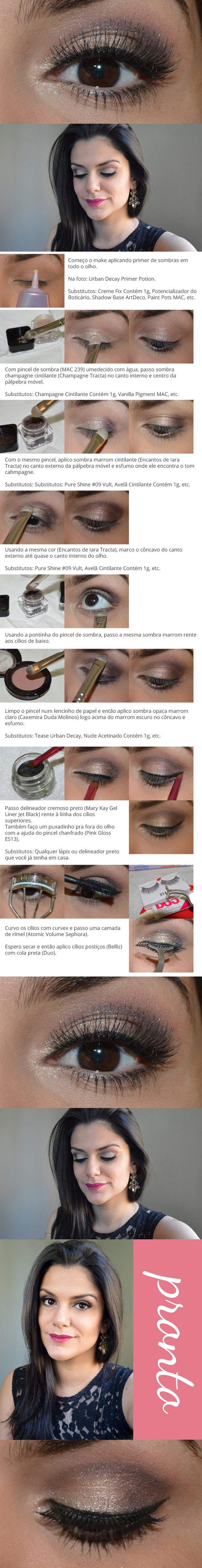 Olhos neutros e boca rosa / Neutral eyeshadows & pink lipstick - http://www.2beauty.com.br/blog/tutoriais-em-pdf/