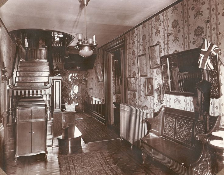 Photo Of The Downstairs Hallway At Ivyhurst Was Home Robinson Franklin Downey And His Wife Ella Jean GREAT DETAIL IN THESE LARGE PICS