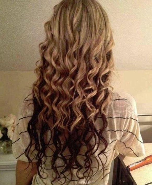 Blonde on top brown underneath...I kinda wanna do ...