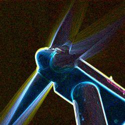 Neon windmolen