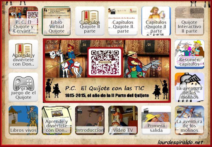 Canciones para el día del libro ~ P. C. El Quijote y Cervantes con las TIC