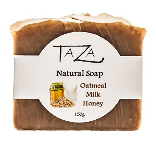 Premium Taza Oatmeal Milk & Honey Natural Soap (Pack of 3) Each 5.3 oz (150 g) ♦ Radiant Skin ♦ Contains: Coconut, Olive, and Palm Fruit Oils, Mango Seed Butter, Kaolin Clay, Oats, Honey, Goats Milk