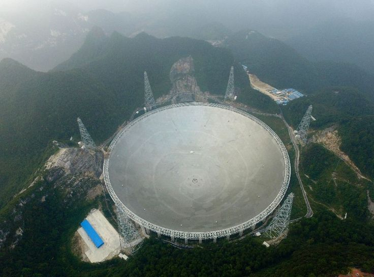 The world's largest radio telescope began operating in southwestern China Sunday, a project Beijing says will help humanity search for alien life.  The Five-hundred-metre Aperture Spherical Radio Telescope (FAST), nestled between hills in the mountainous region of Guizhou, began working around noon