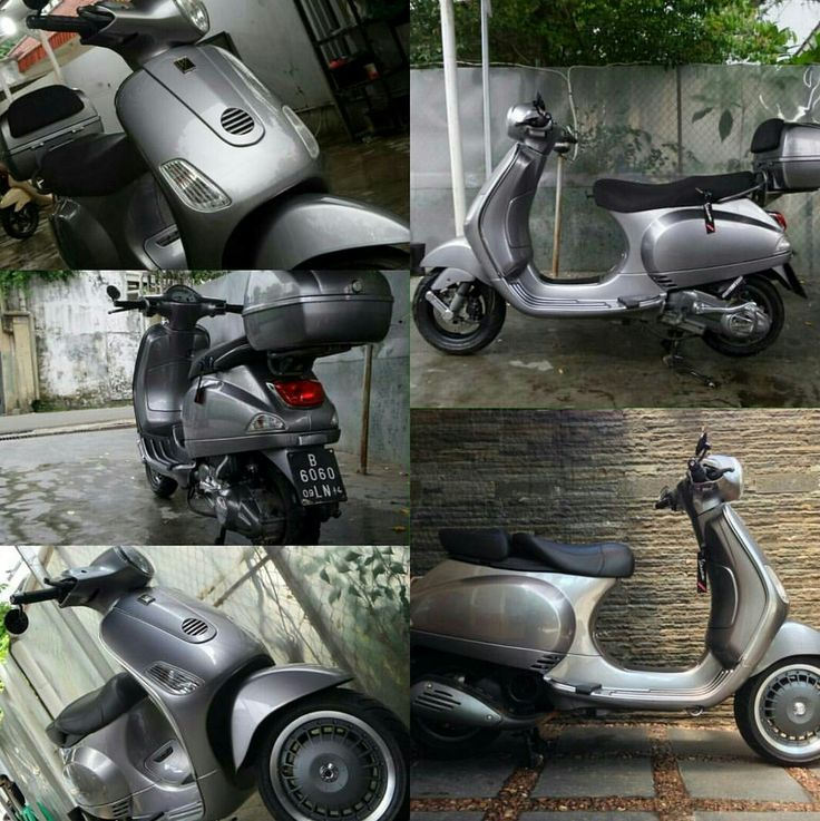 vespa lx modified with 946 wheel, vespa lxv seat, bar end mirror etc #vespa #vespalx #150 #modified