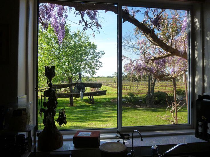 Most Romantic View out of a Window - Fox Creek, McLaren Vale - South Australia