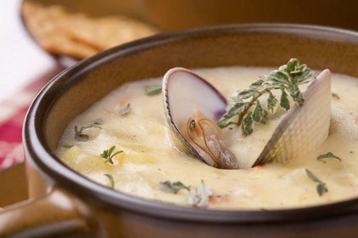 Clam Chowder - Schmackhafte Muschelsuppe auf amerikanische Art. Das Rezept für schmackhafte Muschelsuppe, Clam Chowder hier im Gourmet-Blog!