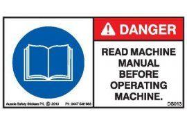 Danger   Aussie Safety Stickers