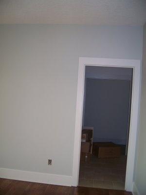 Our new kitchen color is cliffside gray from benjamin for Creamy grey paint color