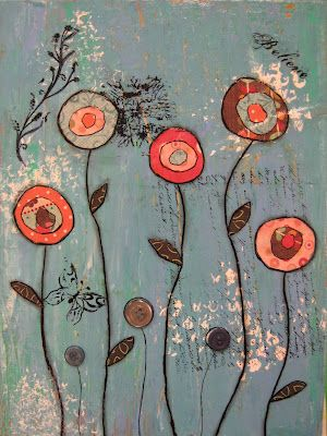 Angela Anderson Art Blog: Mixed Media Flowers - Kid's Art Class
