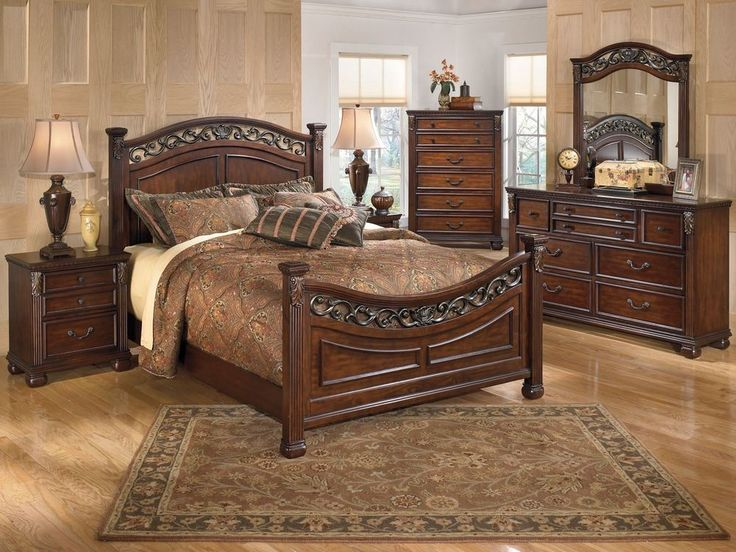 CORTINA   5pcs EURO TRADITIONAL CHERRY QUEEN KING POSTER BEDROOM SET  FURNITURE. 12 best Bedroom Furniture images on Pinterest