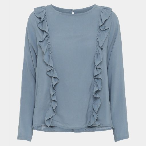 Bluse mit Rüsche - STOFF & STIL | Nähen - Sewing | Pinterest
