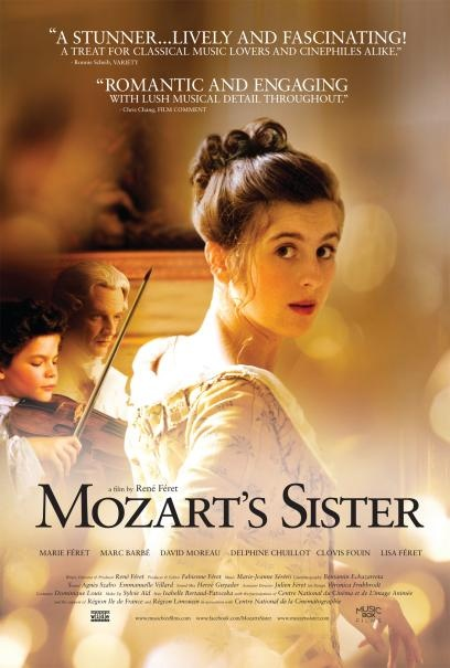 MOZART'S SISTER....beautiful film (dont know a thing about it - but I'll see it if its not R)