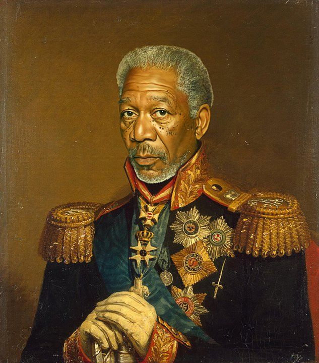 Replaceface: Portraits by Steve PayneCaptain Morgan, Morgan Freeman, Inspiration, Portraits Painting, Like A Sir, Celebrities Portraits, Digital Art, Steve Payne, New Art