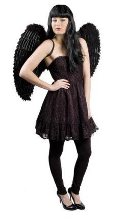 paire d 39 ailes plumes noires d guisement ange et d mon pinterest plume noire deguisement. Black Bedroom Furniture Sets. Home Design Ideas