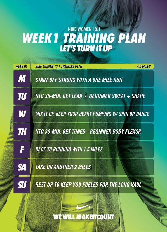 Nike - 12 week Training Plan to runa half marathon - Week 7