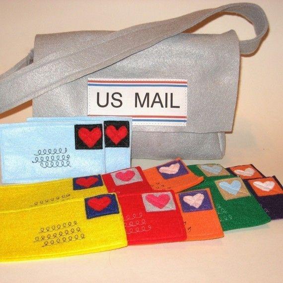 Hand made mail bag
